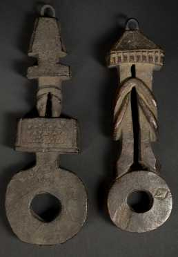 Two Nepalese Butter-Churn handles