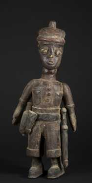 A fine and large West African colonial figure