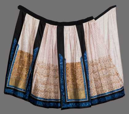 Chinese Gold Thread Embroidered Skirt