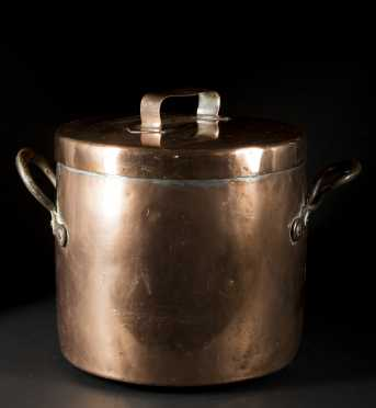 19thC. Copper Cook Pot With Lid