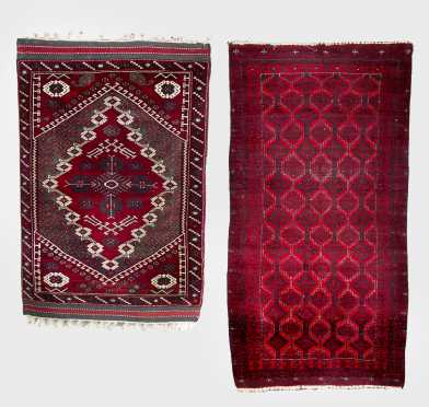 Two Afghan Scatter Rugs