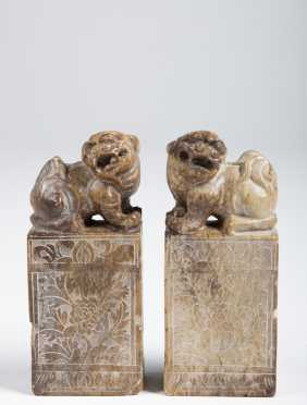 Pair of Chinese Foo Dog Chops