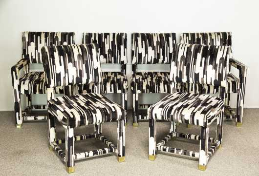 "Set of Six ""Modern"" Upholstered Chairs"