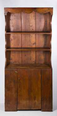 Pine Stepped Back Cupboard