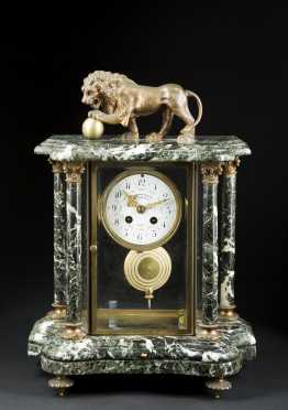 "French Mantle Clock, ""L. Charvet Aine and Co""."