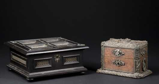 Two Continental Decorated Boxes