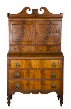 Mahogany Empire Two Part Secretary
