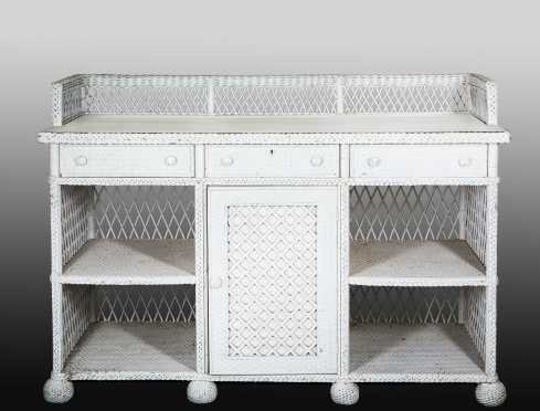 Wicker Sideboard