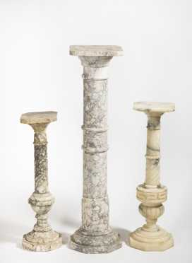Three Marble Pedestals