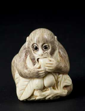 Monkey Form Netsuke