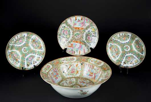 Chinese Export Porcelain Rose Medallion Lot