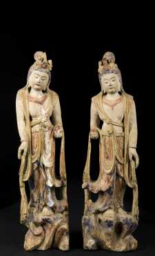 Pair of Chinese Goddesses