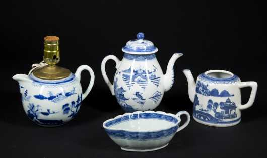 Chinese Blue and White Canton Lot