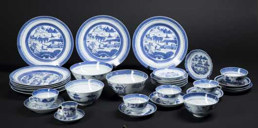 Chinese Blue and White Dinnerware