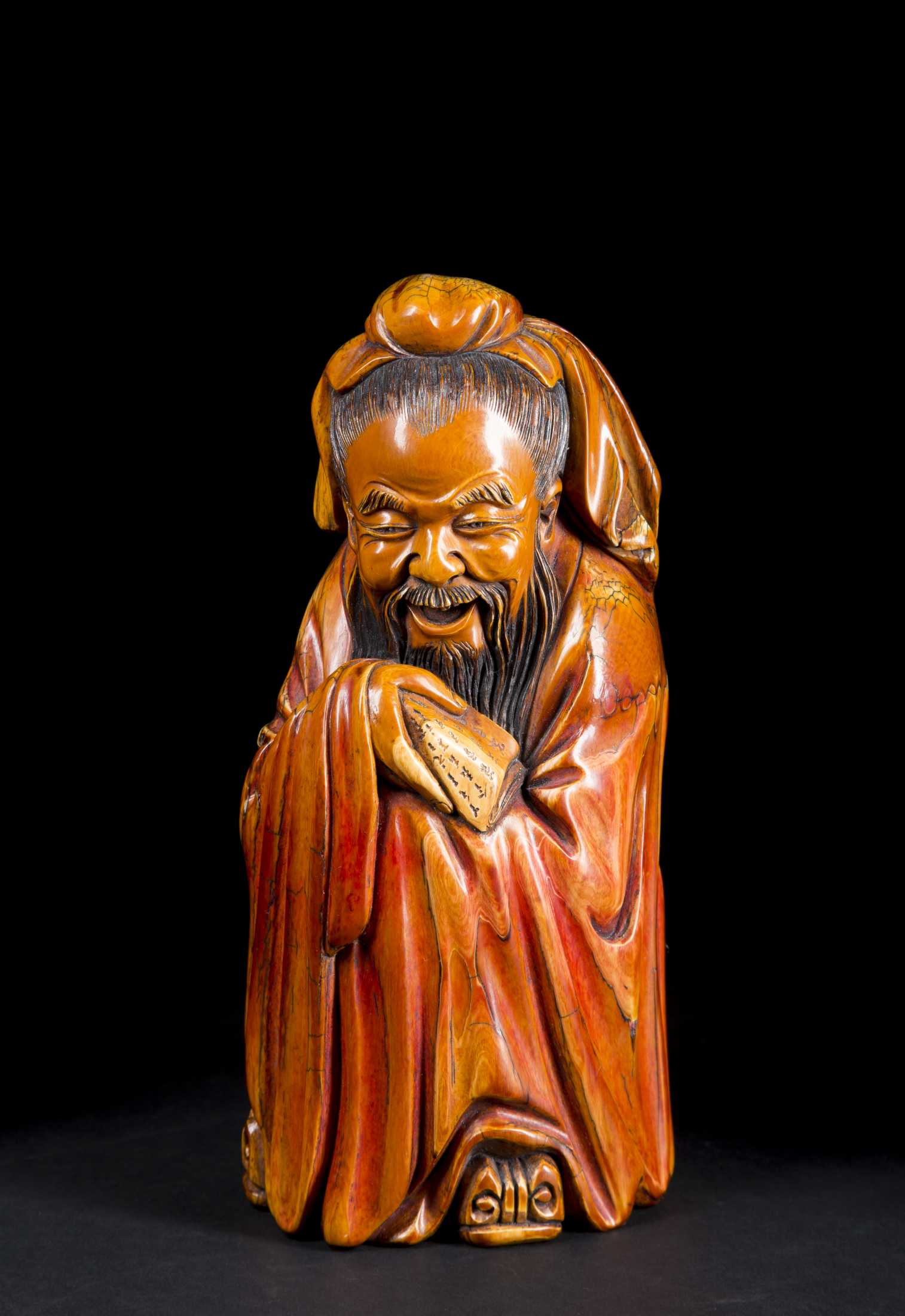 Chinese Carved Ivory Scholar