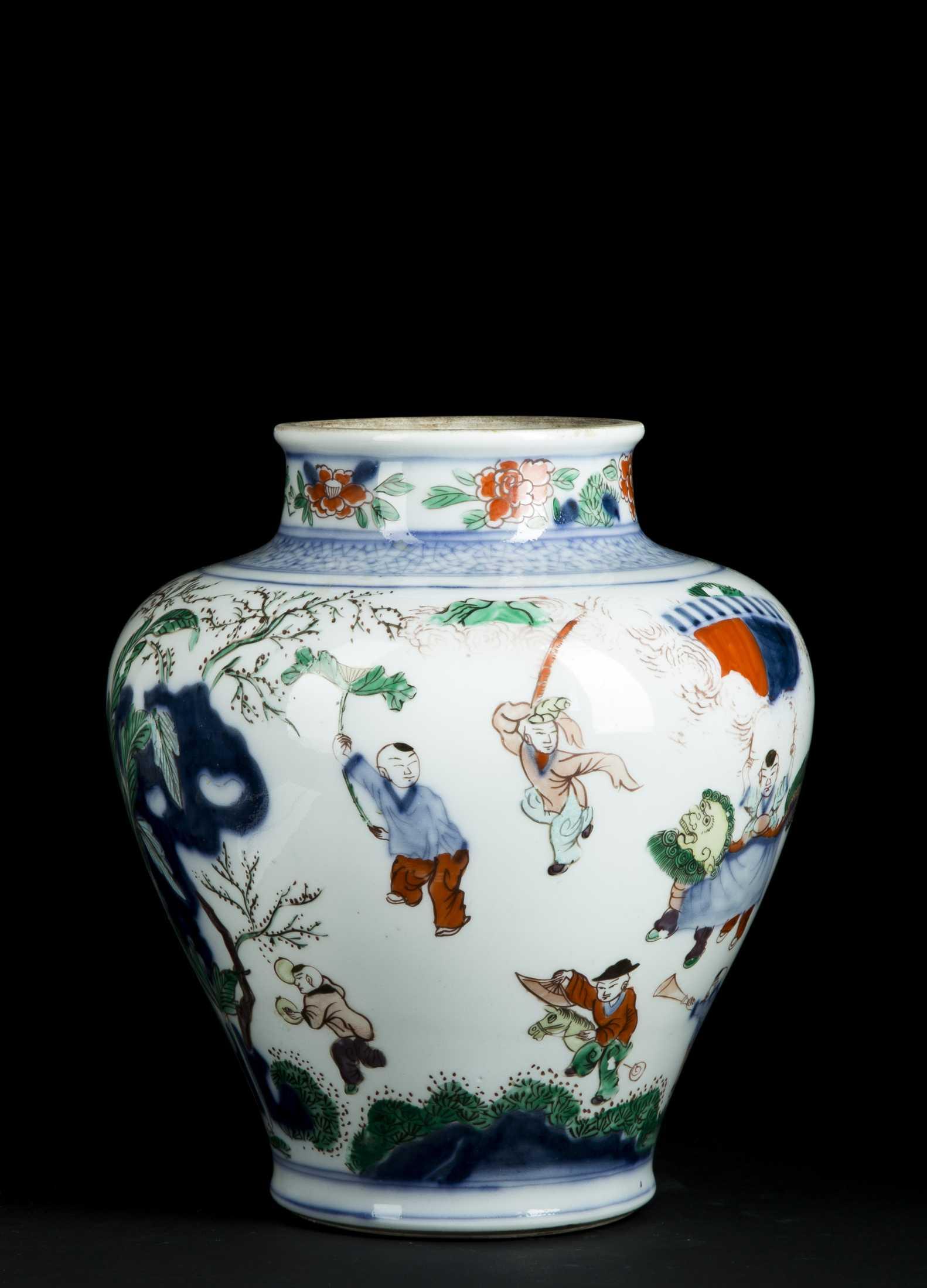 Chinese Shunzhi Porcelain Vase