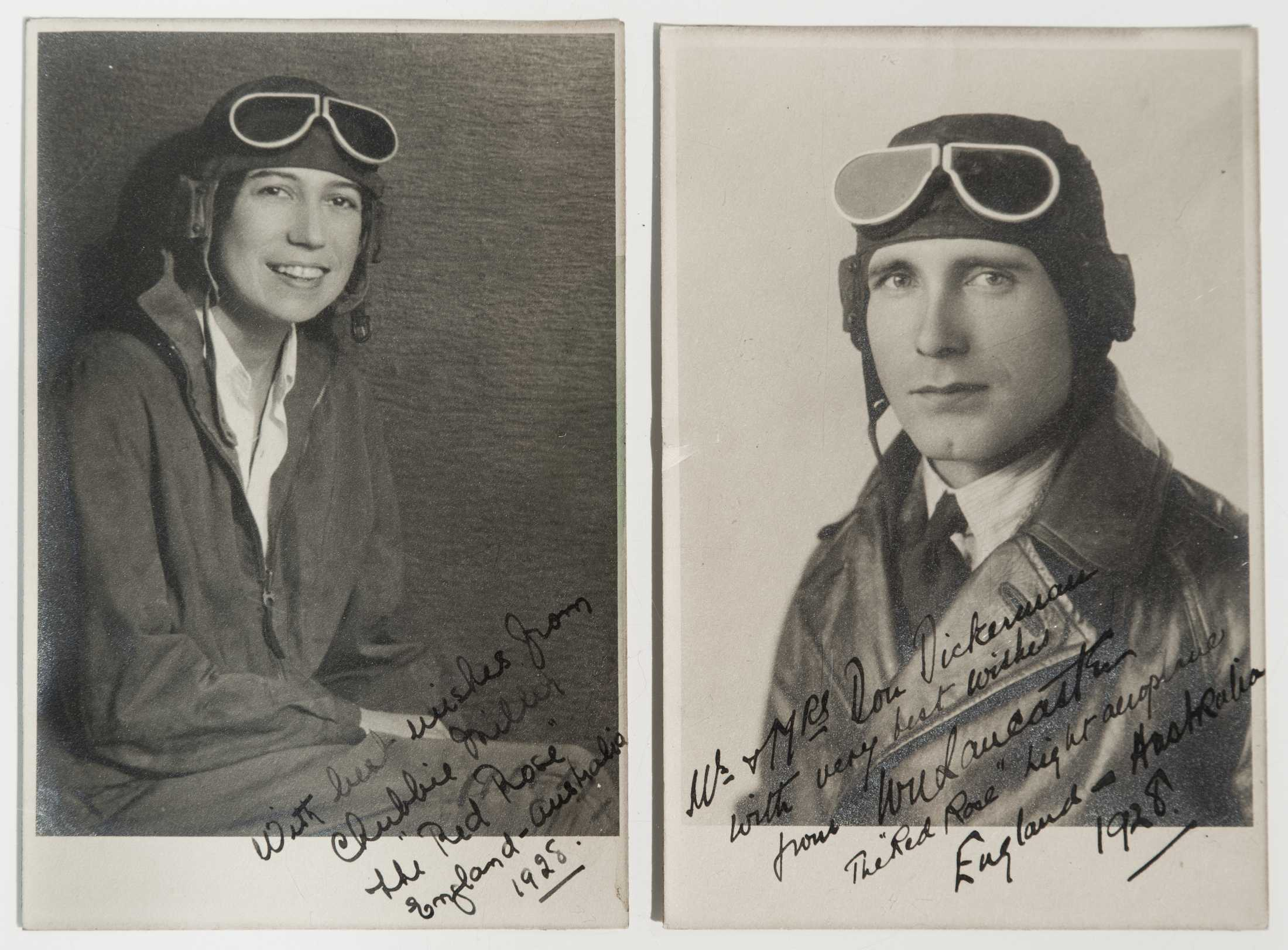 Pair Of Inscribed And Autographed 1928 Photographs Of