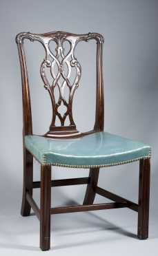 Set of Eight Mahogany Chippendale Chairs