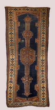 Hammadan Caucasian Style Scatter Rug