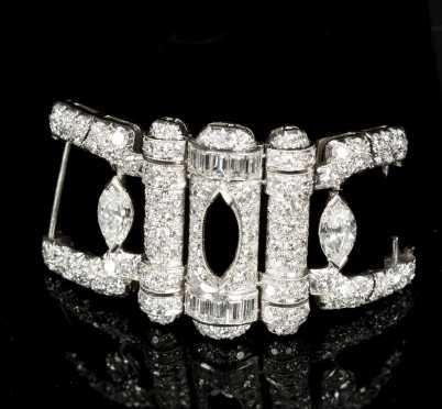 Diamond and Platinum or White Gold Bracelet Links