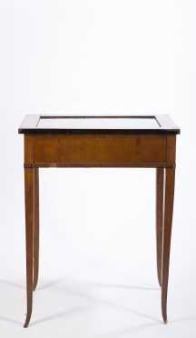 Biedermeier Vitrine Table