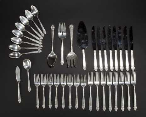 """Sterling Silver """"King Cedric"""" Table Service"""