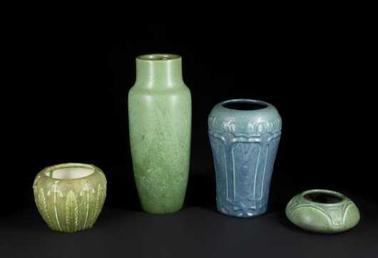 Four Hampshire Pottery Pieces