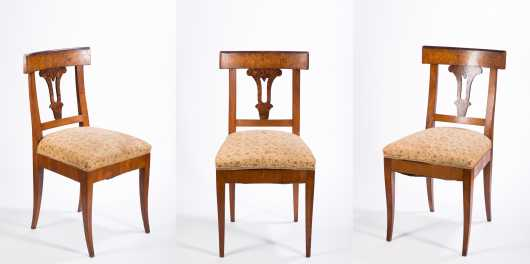 Three Biedermeier Dining Chairs