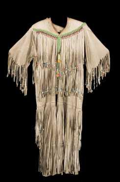 Leona Strong, Fox Native American Hide Dress