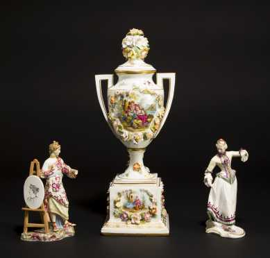 Continental Porcelain Lot of Three Pieces