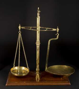 English Brass Balance Scale