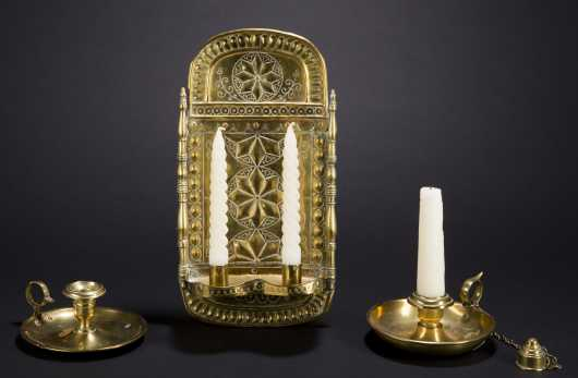 Continental Brass Wall Sconce Lot
