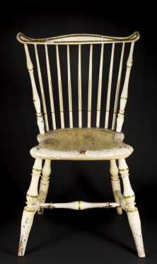 Painted Fan Back Windsor Side Chair
