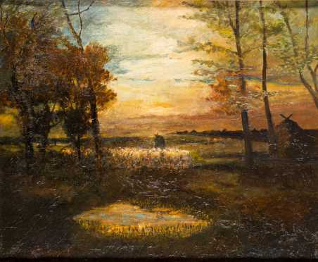 Charles P. Appel painting of a twilight landscape