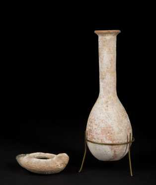 Two Ancient Teracotta Pottery Items