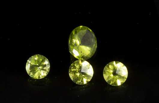 Four Loose Peridot Stones