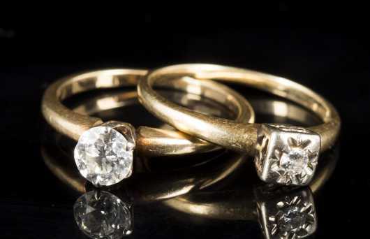 Two Diamond Solitaires