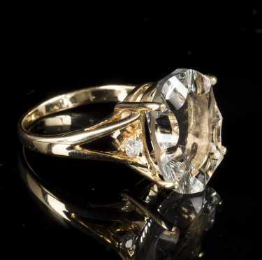 Oval Praisiolite Ring