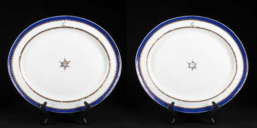 Pair of Chinese Export Platters