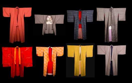 Lot of 8 Silk Kimono