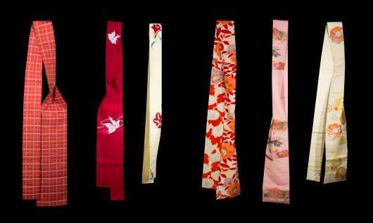 Lot of 6 Japanese Obi