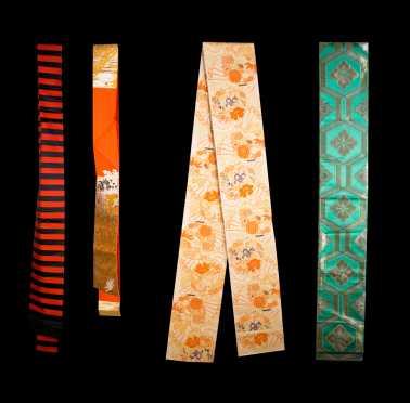 Lot of four Formal Japanese Obi