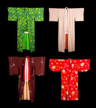 Four Silk Kimonos