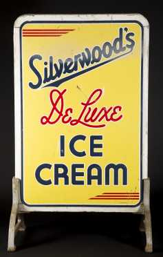 """Silverwood's Ice Cream"" Standing Sign"