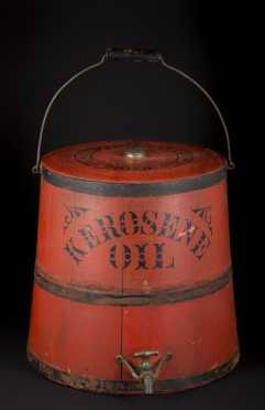 """""""Kerosene Oil"""" Red Painted Dispenser"""