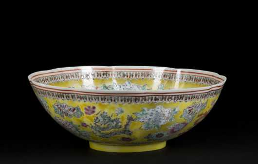 Chinese Export Yellow Glaze Bowl