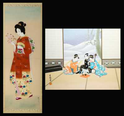 Two Contemporary Japanese Paintings