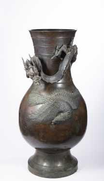 Edo Palace/ Meiji Bronze Vase