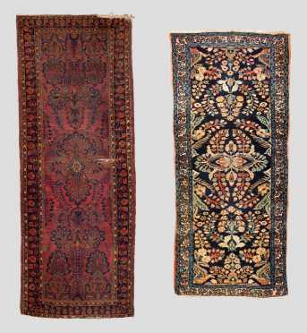 Two Sarouk Runner Oriental Rugs