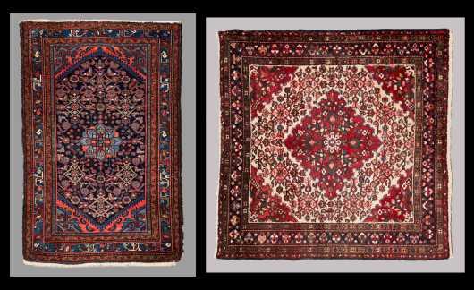 Two Hamadan Scatter Oriental Rugs